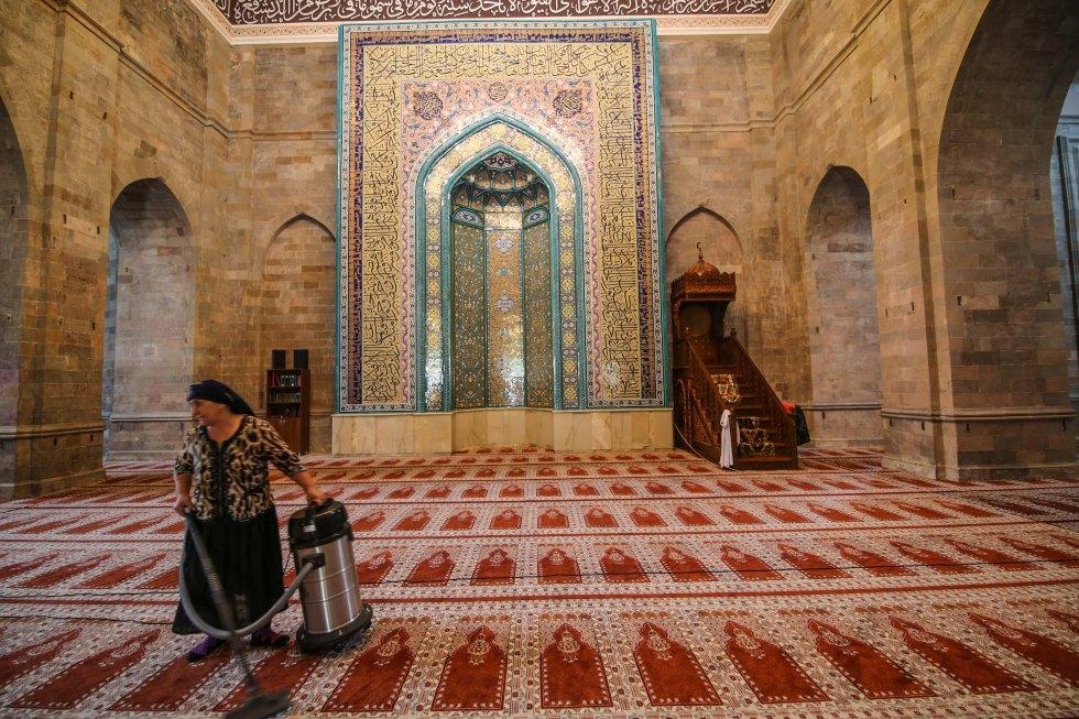 Moskén i Shamakhi, Azerbajdzjan. Foto: Johnny Friskilä