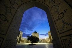blue-hour-courtyard-bukhara-uzbekistan