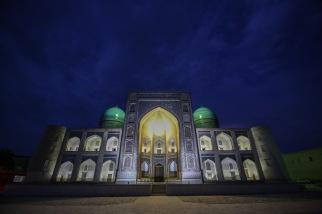 blue-hour-madrassah-bukhara-uzbekistan