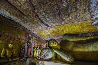 Resting Buddha in Dambulla, Sri Lanka