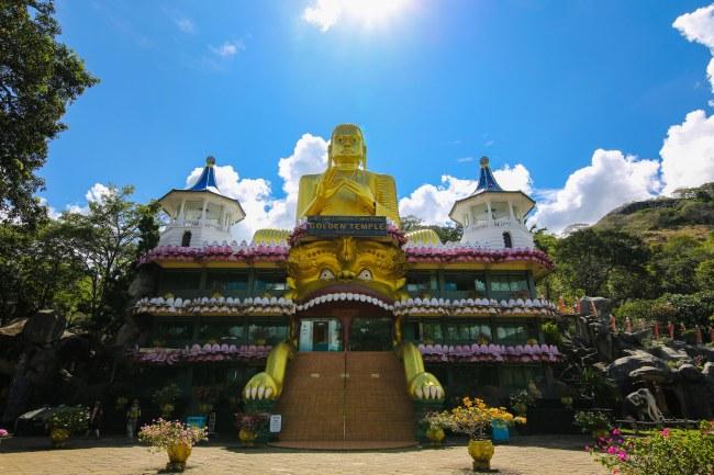 Golden Buddha in Dambulla, Sri Lanka
