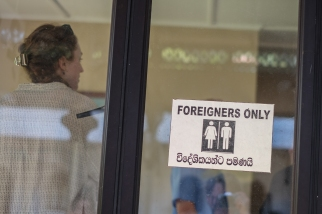 Toilet only for foreigners, Kandy,