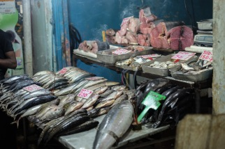 Shopping for fish at the market in Nuwara Eliya, Sri Lanka