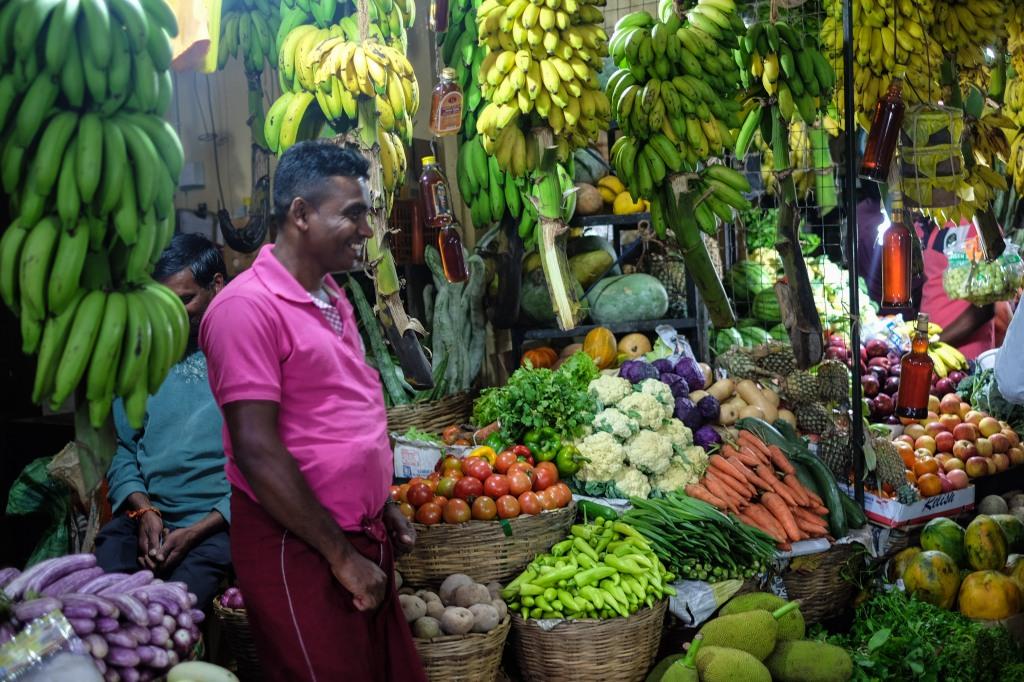 Fruit and vegetables in Nuwara Eliya, Sri Lanka