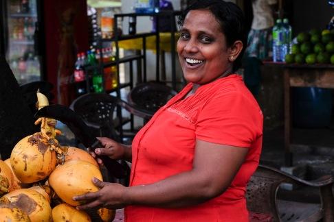 Fresh coconut in Sri Lanka