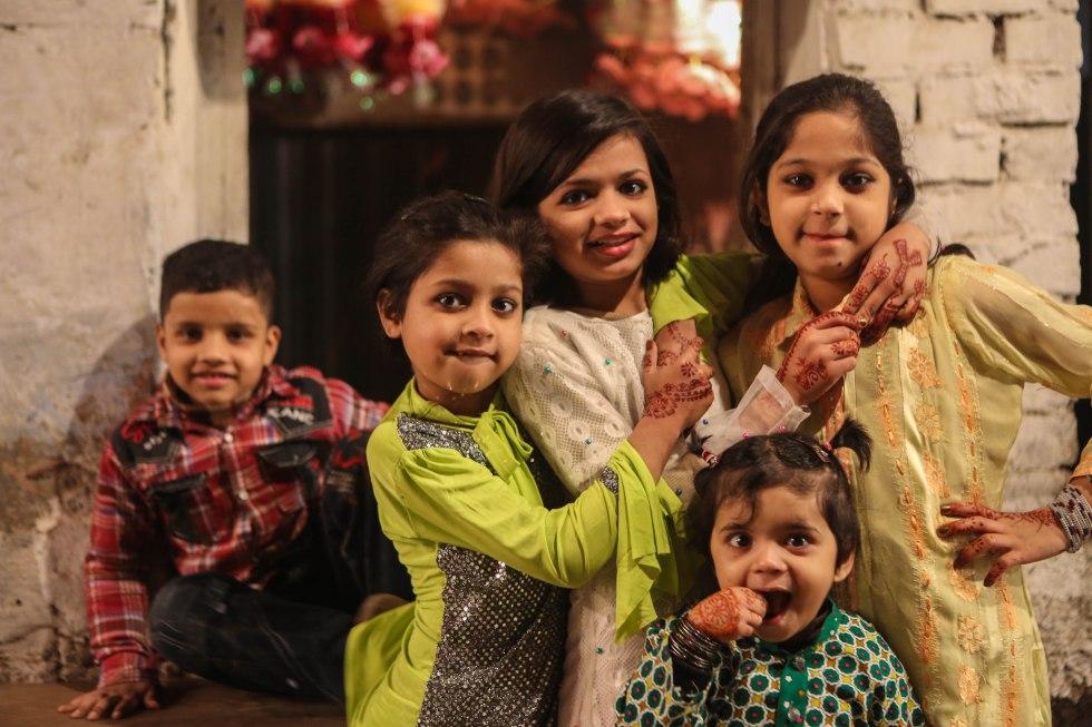 Children in Lahore celebrating Mawlid, the birthday of Prophet Muhammed