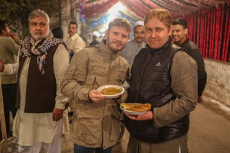 Distributing food for Mawlid (Milad al-Nabi)