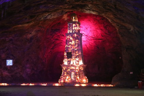 Salt mine in Khewra, Pakistan. Where the Himalaya salt comes from.