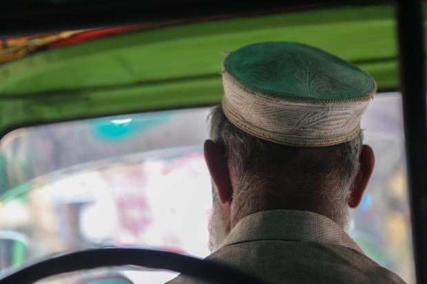 Rickshaw driver in Lahore
