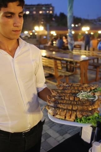 Azerbaijan Baku fish restaurant 2014-1