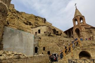 Besök vid Davit Gareja-klostret nära gränsen till Azerbajdzjan