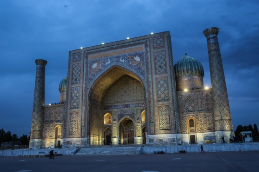 Blue Hour Registan Samarkand-5363