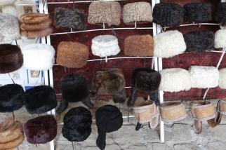 Fur hats Bukhara Uzbekistan Shopping -5183