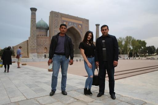 Posing at Registan Samarkand-5336