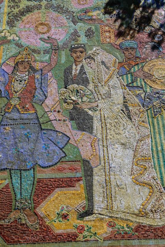 Tajik Wedding Soviet Mosaic Dushanbe-5782