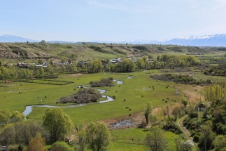View landskape Przhevalskij Museum Karakol Kyrgyzstan-6117