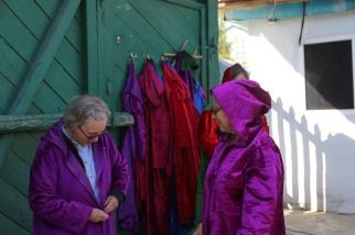 Women dress Dungan Mosque Karakol Kyrgyzstan-6072