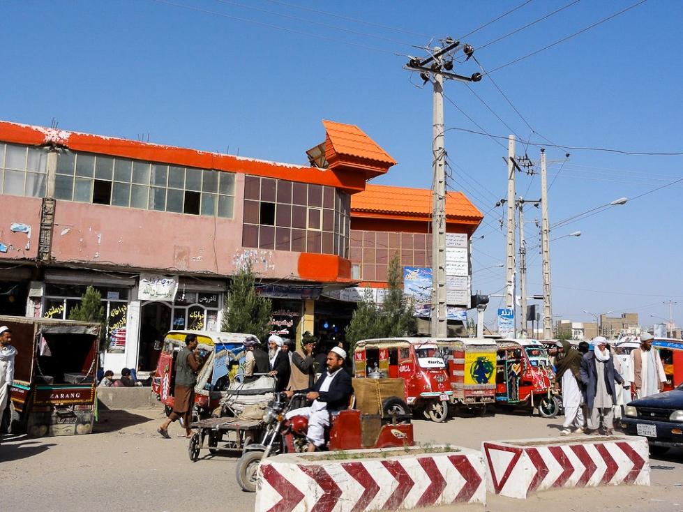 Afghanistan Herat road block-